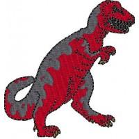 Дизайн машинной вышивки Динозавр Тираннозавр скачать
