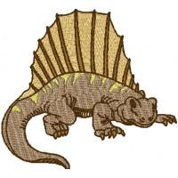 Дизайн машинной вышивки Динозавр Диметродон скачать