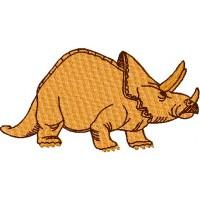Дизайн машинной вышивки Динозавр Трицератопс скачать