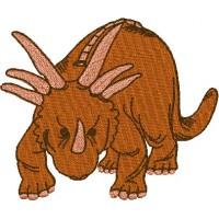 Дизайн машинной вышивки Динозавр Стиракозавр скачать