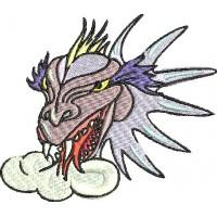 Дизайн машинной вышивки Голова дракона скачать