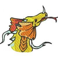 Дизайн машинной вышивки Жёлтый дракон скачать