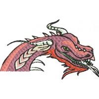 Дизайн машинной вышивки Розовый дракон скачать