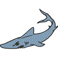 Дизайн машинной вышивки Акула скачать