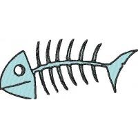 Дизайн машинной вышивки Рыбный скелет скачать