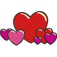 Дизайн машинной вышивки Сердечки скачать