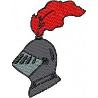 Дизайн машинной вышивки Рыцарский шлем скачать