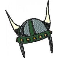 Дизайн машинной вышивки Шлем викинга скачать