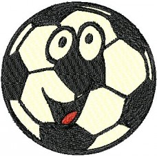 Дизайн машинной вышивки Футбольный мячик скачать
