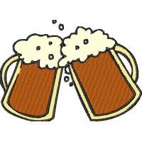 Дизайн машинной вышивки Кружки пива скачать