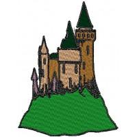 Дизайн машинной вышивки Замок на холме скачать