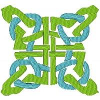 Дизайн машинной вышивки Кельтский квадрат скачать