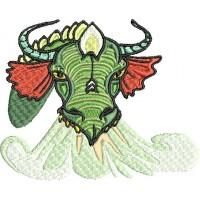 Дизайн машинной вышивки Голова дракона 3 скачать
