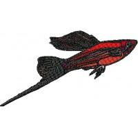 Дизайн машинной вышивки Рыбка Меченосец скачать