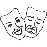 Дизайн машинной вышивки Театральные маски скачать