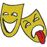 Дизайн машинной вышивки Театральные маски 1 скачать