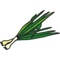 Дизайн машинной вышивки Зелёный лук скачать