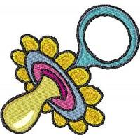 Дизайн машинной вышивки Детская соска скачать