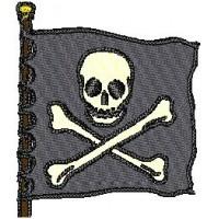 Дизайн машинной вышивки Пиратский флаг скачать