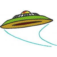 Дизайн машинной вышивки Летающая тарелка скачать