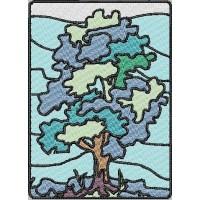 Дизайн машинной вышивки Дерево скачать