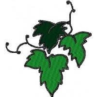 Дизайн машинной вышивки Виноградные листья скачать