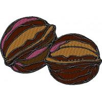Дизайн машинной вышивки Грецкие орехи скачать