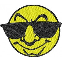 Дизайн машинной вышивки Солнце в очках скачать