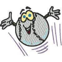 Дизайн машинной вышивки Весёлый мячик скачать