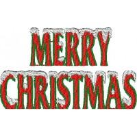 Дизайн машинной вышивки Merry Christmas 2 скачать