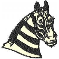Дизайн машинной вышивки Голова зебры скачать