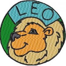 Дизайн машинной вышивки Лев скачать