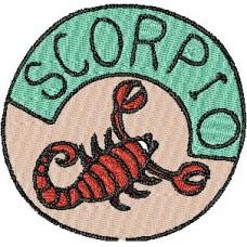 Дизайн машинной вышивки Скорпион скачать