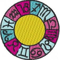 Дизайн машинной вышивки Знаки зодиака скачать