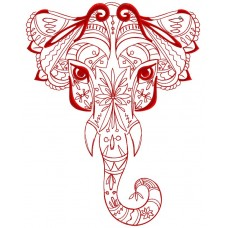 Дизайн машинной вышивки Орнаментальный слон скачать
