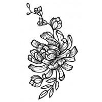 Дизайн машинной вышивки Уголок с хризантемой скачать
