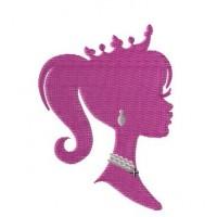 Дизайн машинной вышивки Профиль принцессы скачать