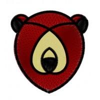 Дизайн машинной вышивки Орнаментальная голова медведя скачать