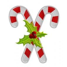 Дизайн машинной вышивки Рождественские леденцы скачать