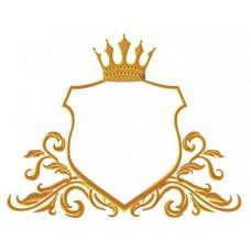 Дизайн машинной вышивки Щит с короной и вензелями скачать