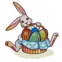Дизайн машинной вышивки Пасхальный заяц скачать