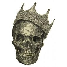 Дизайн машинной вышивки Череп в короне скачать