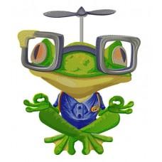 Дизайн машинной вышивки Медитирующая лягушка скачать