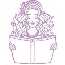 Дизайн машинной вышивки Читающая девушка скачать