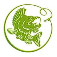Дизайн машинной вышивки Рыба и крючок скачать