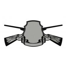 Дизайн машинной вышивки Щит с ружьями скачать