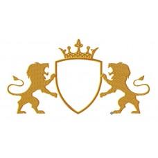 Дизайн машинной вышивки Щит со львами скачать
