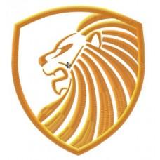 Дизайн машинной вышивки Щит со львом скачать