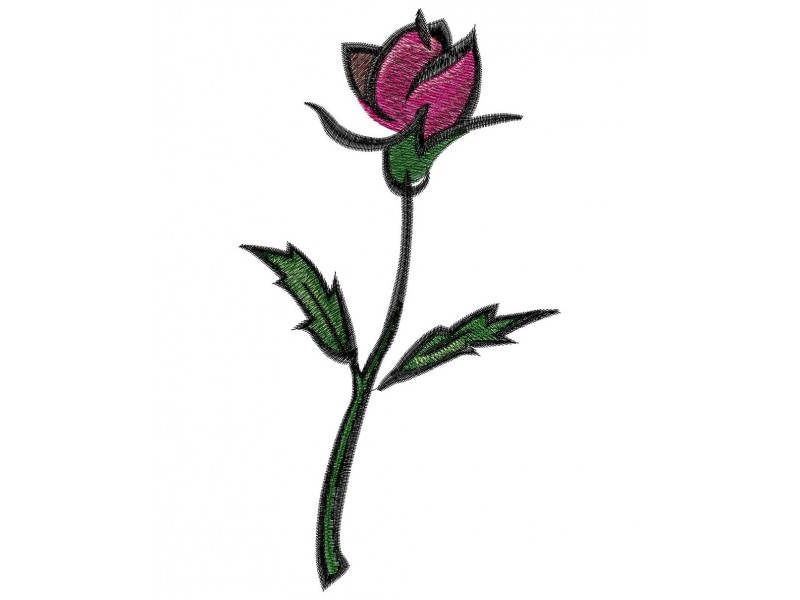 Дизайн машинной вышивки Вышивка Простая роза скачать