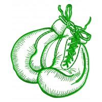 Дизайн машинной вышивки Боксерские перчатки 1 скачать
